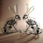 Xray Hare Glass Sculpture