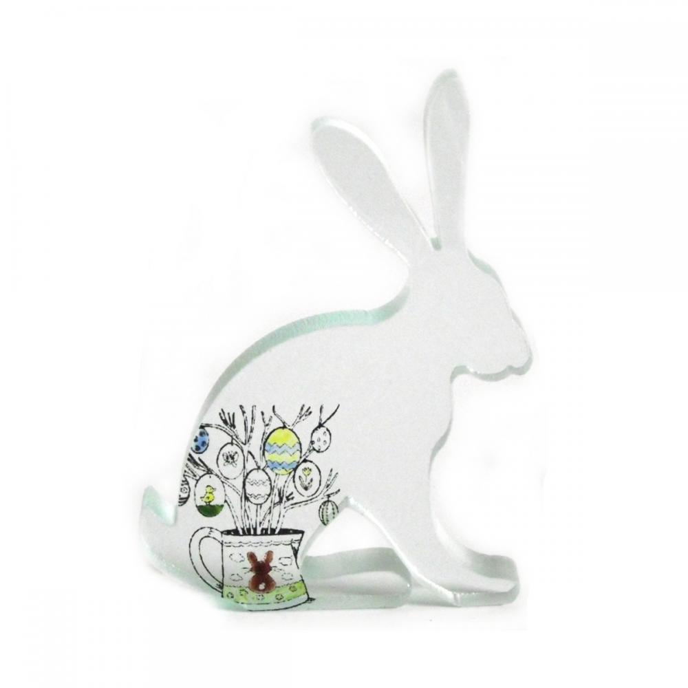 Easter Egg Hare Glass Sculpture